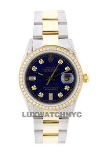 Rolex 2ct 36mm Men's Datejust 2-tone with Appraisal & Watch