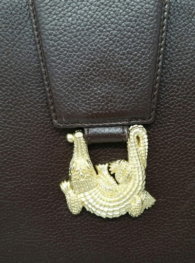 Barry Kieselstein-Cord Vintage Alligator Gold Shoulder Bag Image 1