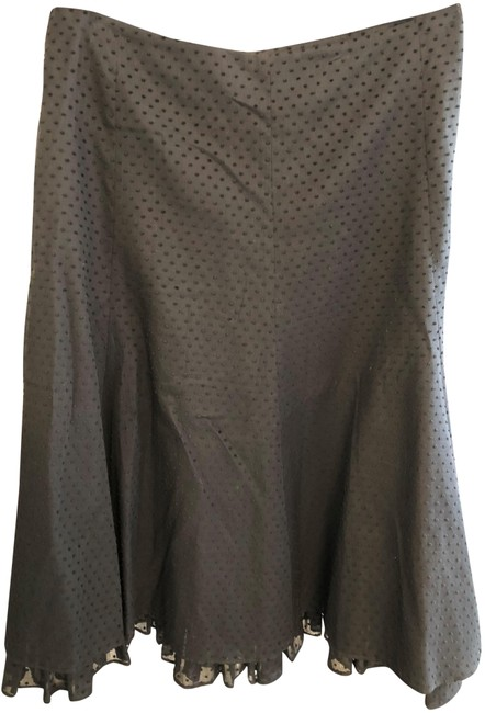 Item - Black Bergdorf Goodman Polka Dot Ruffle Skirt Size 10 (M, 31)