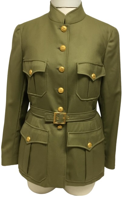 Preload https://img-static.tradesy.com/item/25552435/chanel-olive-military-style-with-belt-jacket-size-8-m-0-2-650-650.jpg