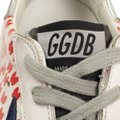 Golden Goose Deluxe Brand Sneakers Leather Applique Star Print White/Red Athletic Image 6