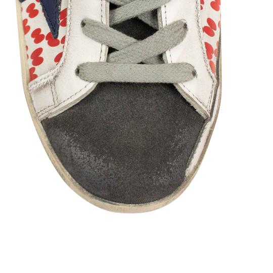 Golden Goose Deluxe Brand Sneakers Leather Applique Star Print White/Red Athletic Image 7