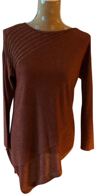 Item - Rust with Metallic Asymmetrical Tunic Size 4 (S)