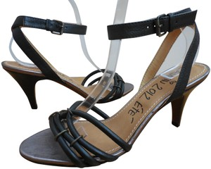 Lanvin Heels 40 8 8.5 Black Sandals