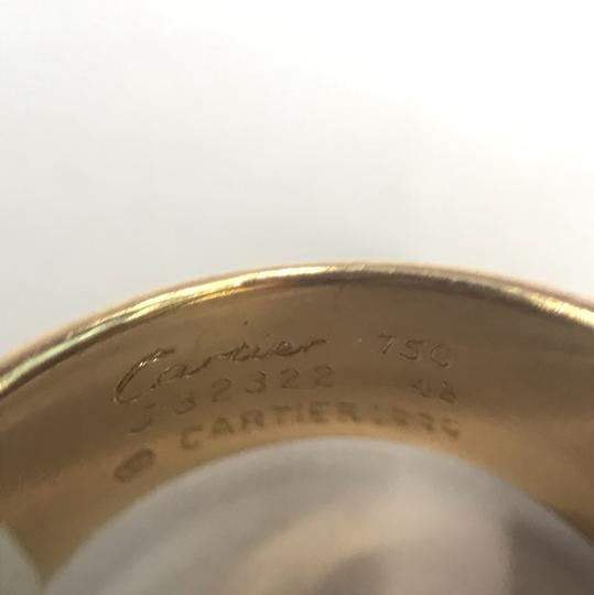 Cartier Nouvelle Vague Dangling Beads 18k Yellow Gold Ring Size 4.5 Image 2