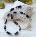 Handmade One of a Kind Sterling Silver Crystal Czech Glass Hematite Necklace Image 1
