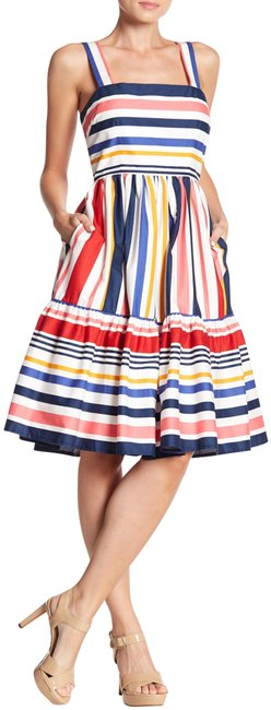Preload https://img-static.tradesy.com/item/25552563/vince-camuto-multi-color-candy-striped-wide-strap-flouced-hem-fit-and-flare-style-no-vc8m6860-short-0-1-650-650.jpg