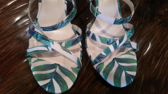 Nine West Green/Pink Sandals Image 3