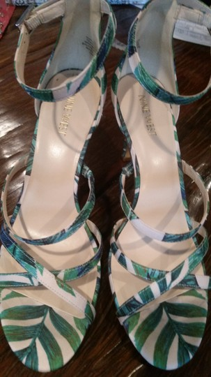 Nine West Green/Pink Sandals Image 5