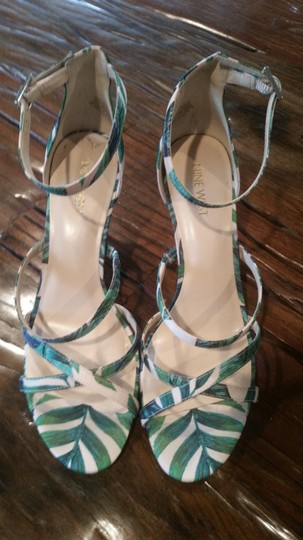 Nine West Green/Pink Sandals Image 7