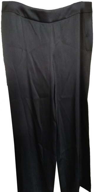 Item - Black 46 Made In Italy Silk Pants Size 14 (L, 34)