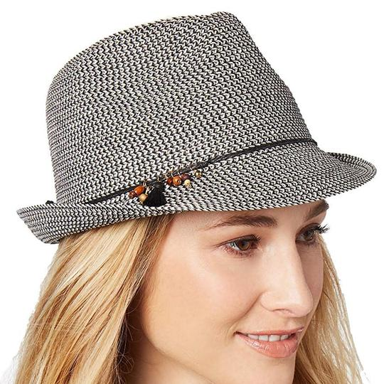 Nine West Nine West Cool Sense Yarn Packable Fedora, Grey Image 1