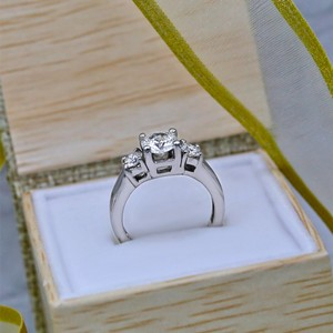 Amazing Platinum with 2.05ct. Total Diamond Weight Engagement Ring