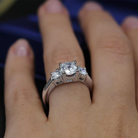 Amazing Platinum with 2.05ct. Total Diamond Weight Engagement Ring Image 2