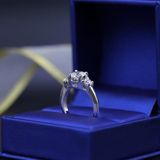 Amazing Platinum with 2.05ct. Total Diamond Weight Engagement Ring Image 3