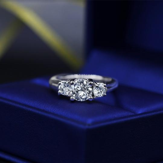 Amazing Platinum with 2.05ct. Total Diamond Weight Engagement Ring Image 4