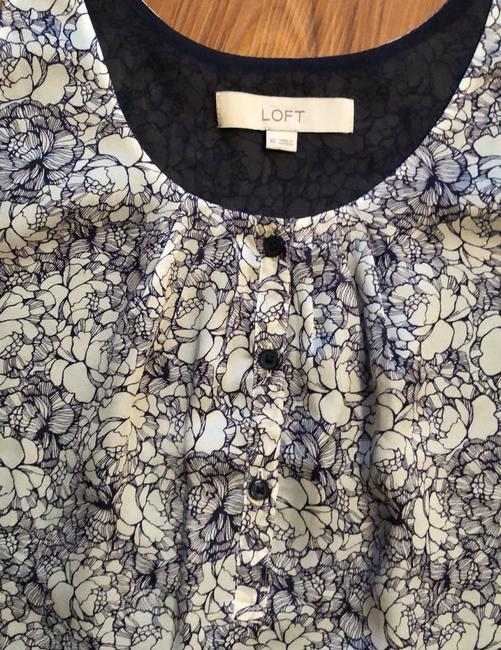 Ann Taylor LOFT Top Navy and White Image 1