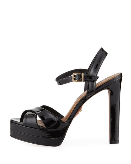 Carrano Black Patent Sandals Image 1