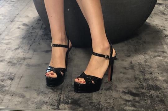 Carrano Black Patent Sandals Image 4