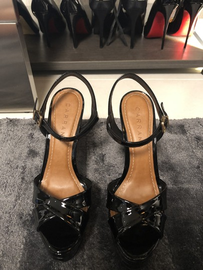 Carrano Black Patent Sandals Image 5