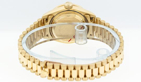 Rolex Ladies Datejust 18k Yellow Gold with String Diamond Dial Watch Image 1