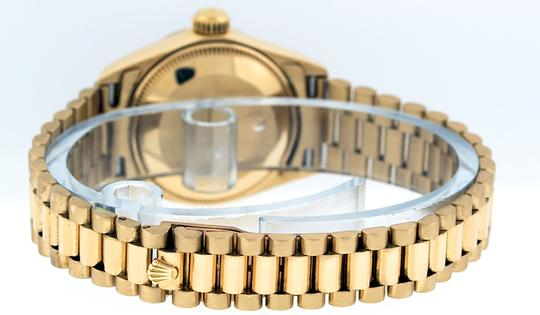 Rolex Ladies Datejust 18k Yellow Gold with String Diamond Dial Watch Image 2
