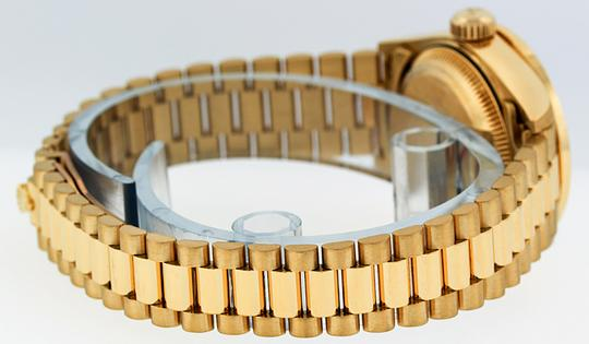 Rolex Ladies Datejust 18k Yellow Gold with String Diamond Dial Watch Image 3