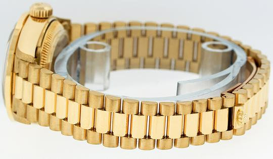 Rolex Ladies Datejust 18k Yellow Gold with String Diamond Dial Watch Image 4