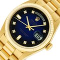 Rolex Mens Datejust 18k Yellow Gold with Diamond Dial Watch Image 0