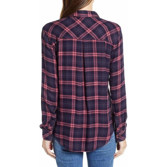 Rails Button Down Shirt navy red Image 2