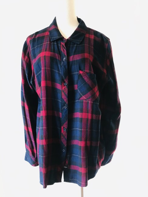 Rails Button Down Shirt navy red Image 3