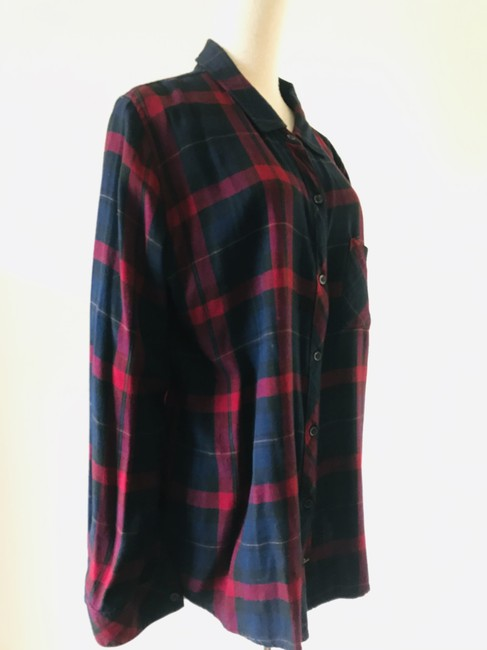 Rails Button Down Shirt navy red Image 4