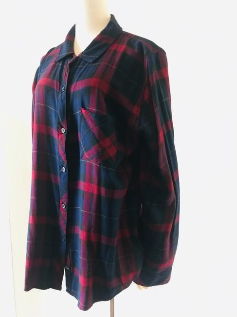 Rails Button Down Shirt navy red Image 7
