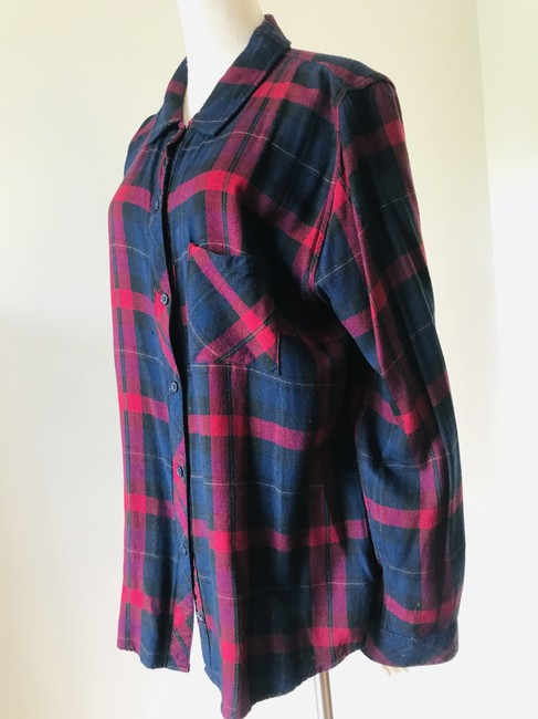 Rails Button Down Shirt navy red Image 8