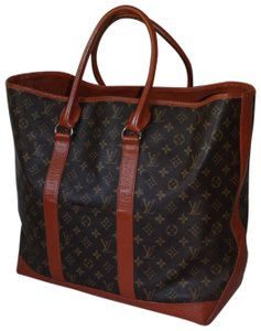 Louis Vuitton Gm Vintage Monogram Canvas French Co Brown Travel Bag