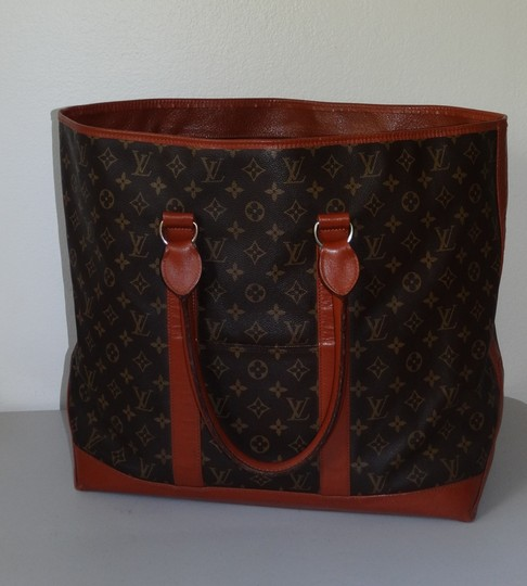 Louis Vuitton Gm Vintage Monogram Canvas French Co Brown Travel Bag Image 2