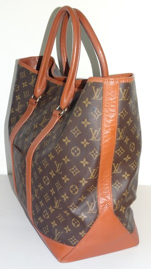 Louis Vuitton Gm Vintage Monogram Canvas French Co Brown Travel Bag Image 4