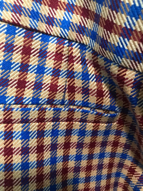 Tory Burch Trouser Pants Red and blue checkered Image 3