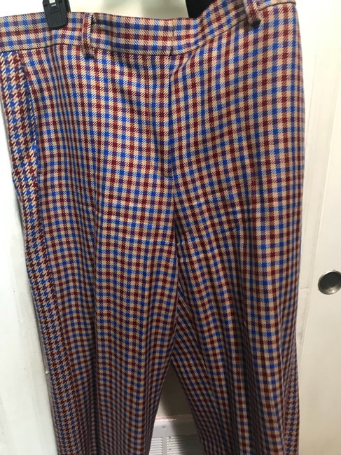 Tory Burch Trouser Pants Red and blue checkered Image 4