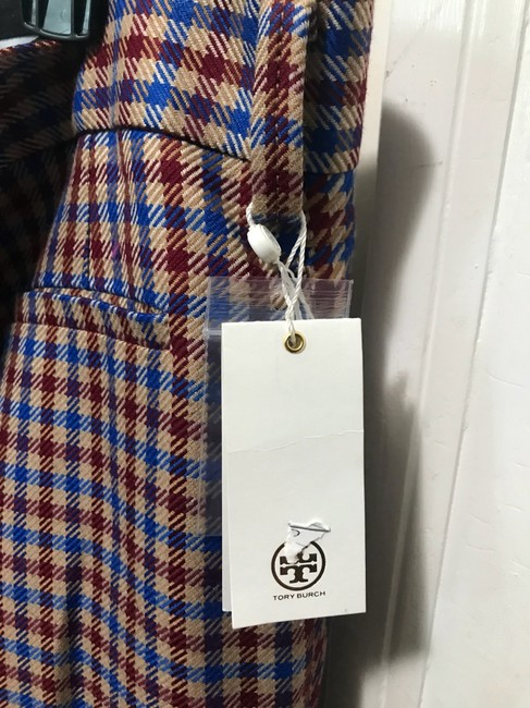 Tory Burch Trouser Pants Red and blue checkered Image 7