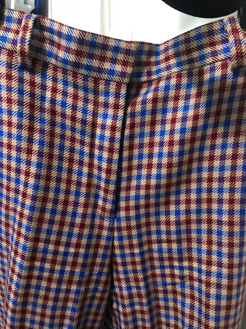 Tory Burch Trouser Pants Red and blue checkered Image 8