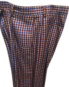 Tory Burch Trouser Pants Red and blue checkered