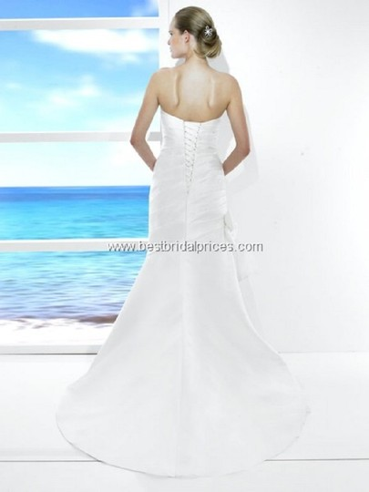 Moonlight Bridal White T482 Traditional Wedding Dress Size 12 (L) Image 2