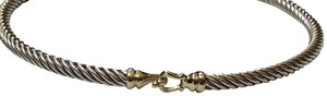 David Yurman David Yurman size medium 3mm gold buckle bracelet