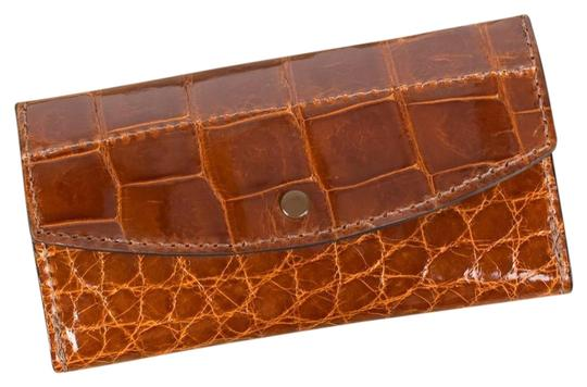 Amish Handmade Cognac Clutch Image 0