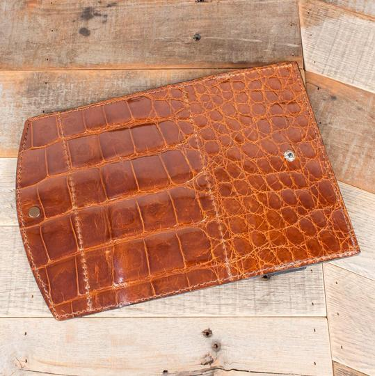 Amish Handmade Cognac Clutch Image 1