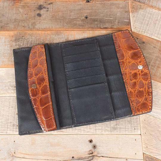 Amish Handmade Cognac Clutch Image 2