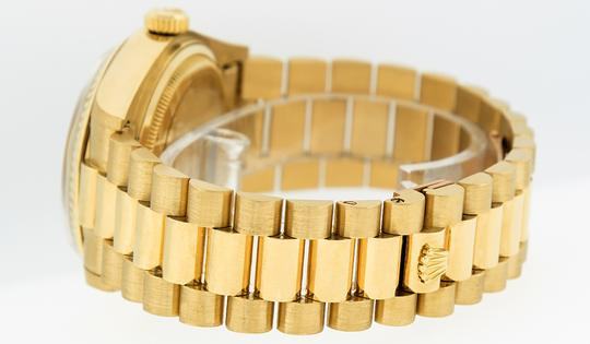 Rolex Mens Datejust 18k Yellow Gold with MOP Diamond Dial Watch Image 4