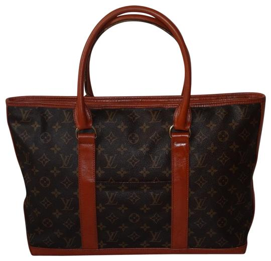 Louis Vuitton Vintage Sac Weekend French Co Tote in Brown Image 0