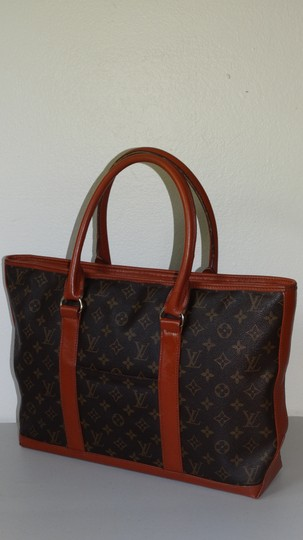 Louis Vuitton Vintage Sac Weekend French Co Tote in Brown Image 2